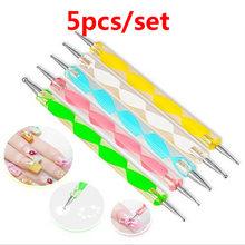 Кисть для дизайна ногтей, ручка для рисования, УФ-Гель-лак для ногтей, кисти для очистки ногтей, инструменты для маникюра, хрустальные бусины(China)