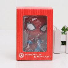 10 centímetros Vingadores Marvel Spiderman homem De Ferro dragon ball Son Goku Figura mario naruto Bobble Cabeça Figura de Ação Decoração Modelo brinquedos(China)