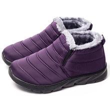 Yeni yarım çizmeler Kadın Botları Için Peluş Sıcak Kar Botları Kadın Kış Ayakkabı Kadın Patik Su Geçirmez Bota Kadın Ayakkabı Botas Mujer(China)