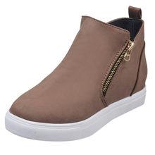 Kadınlar Flats botlar takozlar ayakkabı moda nefes rahat yürüyüş yarım çizmeler rahat ayakkabı Sneakers klasik kış iş ayakkabısı(China)