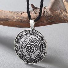 CHENGXUN นอร์สไวกิ้งมังกรจี้สร้อยคอหินสีแดง Amulet Slavic โบราณสัตว์ Runes (China)