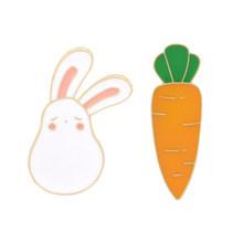 Kartun Totoro Mei Pin Humanoid Kelinci Cute Carrot Bros Lencana Tas Pakaian Enamel Hadiah untuk Anak-anak Perhiasan Grosir(China)