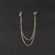 Baru Vintage Dragon Mahkota Sudut Sayap Logam Rumbai Kerah Pin Burung Emas Bros Pin dan Bros Aksesoris Perhiasan Hadiah untuk pria(China)