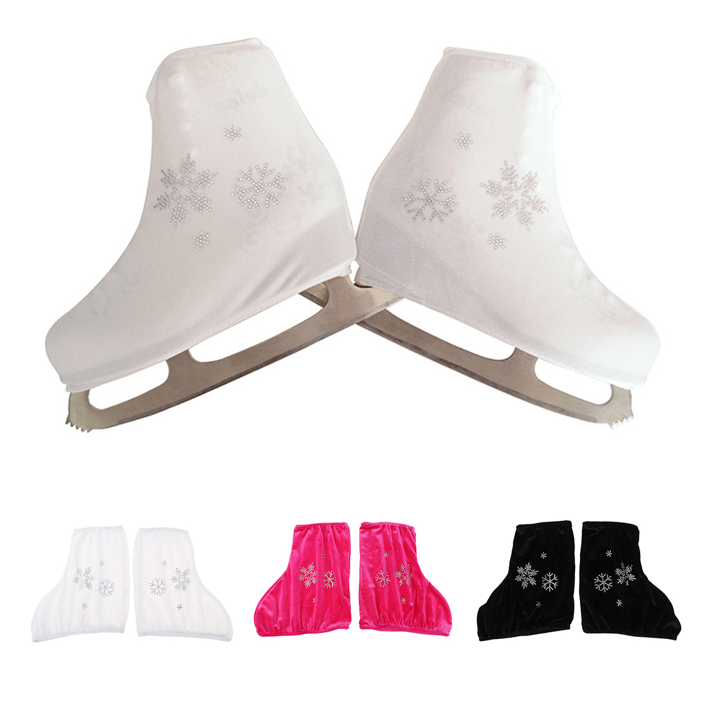 1Pair Ice Skating Roller Stake Velvet Boot Covers Overshoes Protecting Cloth