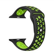 Dòng 1/2/3/4/5 Cao Su Silicon Thể Thao cho Apple Dây đồng hồ đeo tay 38mm 42mm 40mm 44mm blet Dành Cho iWatch Vòng tay(China)