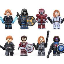Набор из 8 предметов: супергерой, Мстители, Звездные войны, яд, строительные блоки, кубики, фигурки, совместимые с LEGO, для детей, подарок(Китай)