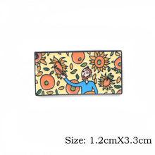 P3797 Dongmanli Moda Van Gogh Dello Smalto Spille Collezione di Pittura a Olio di Arte Spille per Le Donne Risvolto Spilli Distintivo Del Collare Dei Monili(China)