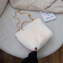 GLOIG invierno mujer embrague piel de conejo falso damas noche bolsos moda 2019 mujer regalo monedero(China)