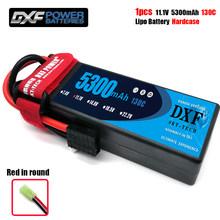 DXF 3S 11,1 mah 5300 V 130C MAX160C batería Lipo Hardcase 1/10 Escala de 1/8 para TRXXX barra 4x4 RC coche duro caso(China)
