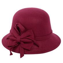 Femme Automne Hiver Mode chapeau décontracté Dôme Britannique chapeau haut-de-forme Vêtements Accessoires gorra hombre chapeaux d'hiver pour les femmes chapeau de seau(China)