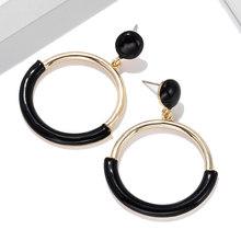 New Korean Hoops Hoop Earrings Metal Hollow Pearl Zircon Cute Classic Flowers Women's Earrings For Jewelry Accessories(China)