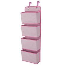 Colgar sobre la puerta Caja multifuncional plegable juguetes llaves revista hogar 4 bolsillos herramientas organizador armario(China)