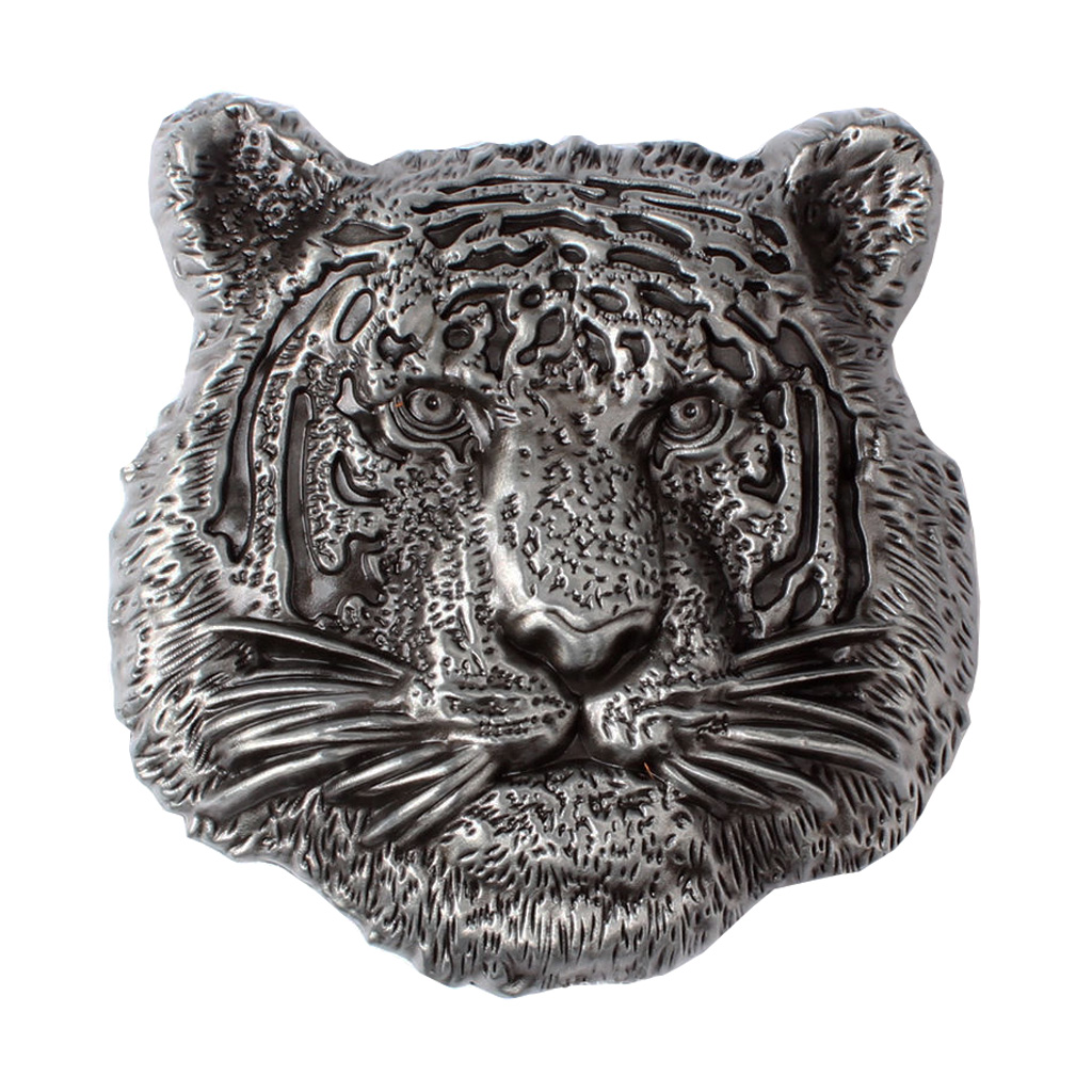 Vintage Solid Metal 3D Tiger Head Belt Buckle Mens DIY Leather Accessories