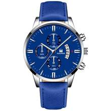 Relogio Masculino montres hommes mode Sport boîte en acier inoxydable bracelet en cuir montre Quartz affaires montre-bracelet Reloj Hombre 2019(China)