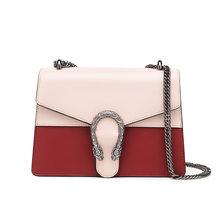 Bisonjs feminina bolsa de ombro couro genuíno clássico cadeias sacos de luxo feminino panelled crossbody sacos para mulher 2020 b1628(China)