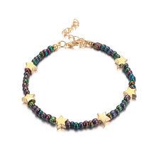 Tocona 9 estilo encantador colorido con cuentas pulseras para el tobillo para mujer linda pequeña estrella joyería para pie de playa tobillo cadena amigo regalo(China)