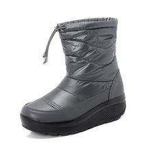 PINSEN 2020 yeni kadın kış botları yüksek kaliteli rahat kar botları kadın Slip-on sıcak bayanlar tutmak tıknaz çizmeler botas mujer(China)