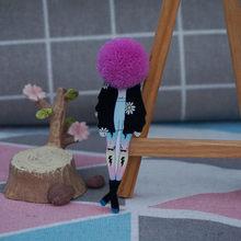 Baru dengan Harga Murah Lucu Wol Bola Lencana Pin Bros Handmade Sweater Bros Pin Akrilik Pins untuk Wanita Lencana(China)