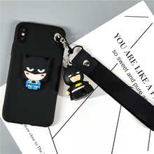 Para Xiaomi Redmi Nota 7 6 Pro Bonito Superhero 3D Brinquedo Cinta Do Telefone Stander Capa Xiaomi Redmi 6 Pro 6A 5plus 5A 4X 4A Capa Mole(China)