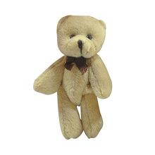 13cm dos desenhos animados urso de pelúcia brinquedo de pelúcia buquê de flores conjunta mini urso de pelúcia para o casamento diy decoração de casa crianças brinquedo boneca presente(China)