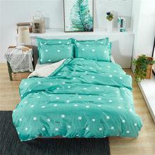 Cartoon Duvet Cover Set Bed Cotton Linens Pillowcase 3/4pcs Bedding Set Green Cat Pink Heart Twin Full Queen Super King 5 size(China)