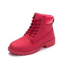 Neue Winter Frauen Ankle Schnee Boot Leder Pelz Keile Warme Plüsch Gummi Plattform Lace Up Sexy Punk Schwarz Damen Schuhe botas Mujer(China)