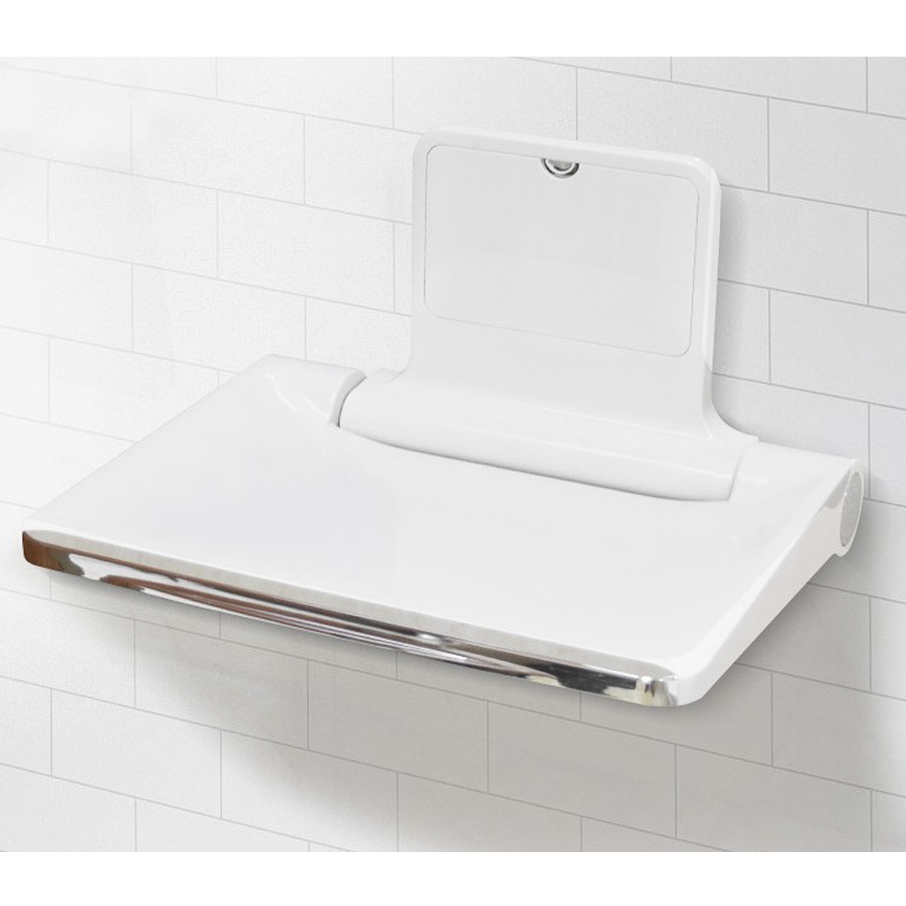 Heavy Duty Durable ABS Wall Mounted Shower Seat Shower Folding Bath Stool Toilet Chair