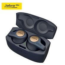 Jabra Elite Attivo 65t Alexa Abilitato Vero Wireless Sport Auricolari con Custodia di Ricarica di Rame Blu & Rosso di Rame e titanio Nero(China)