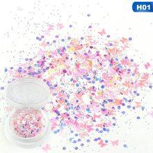 1 doos Zilveren Holografische Pailletten Glitter Shimmer Diamond 6 Kleuren Eye Shiny Skin Markeerstift Gezicht Glitter Festival Make Start(China)