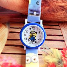 The new cute children's cartoon minions silicone print belt watch boys and girls not waterproof leisure quartz watch(China)