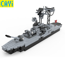 CAYI Military Series Military Warship Vehicle Fighter Compatible Army Soldiers Bricks Toys LegOINGs War City Building Blocks(China)