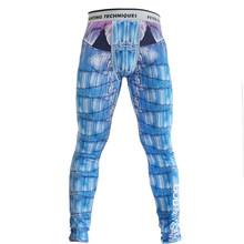 Conjunto de boxe Compressão Jersey + Calças Crânio Calças Apertadas Longas Camisetas Muay Thai KickBoxing MMA Rashguard Fightwea(China)