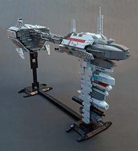 Legoins Lepins строительный блок Звездные войны moc-34757 ef76 nebula-b эскорт фрегат переноска миниатюрный Сокол Миллениум игрушка мальчик подарок(Китай)