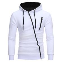 CYSINCOS jesień moda Casual jednolite bluzy z kapturem mężczyźni/kobiety Polluver bluza męska bluza z kapturem bluza z kapturem Plus Size(China)