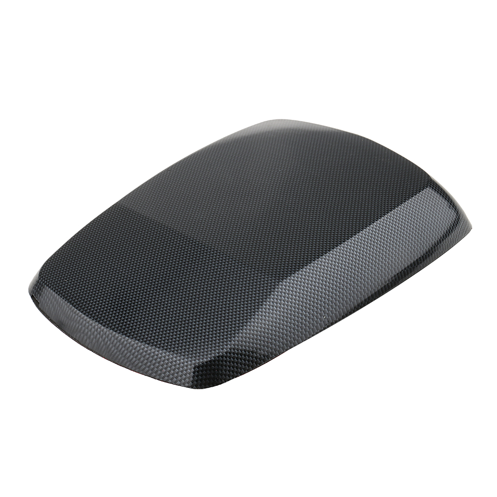 Universal Car Decorative Air Flow Intake Hood Scoop Vent Turbo Bonnet Cover Hood Ornament Replacement Carbon Fiber Finish