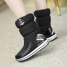 Morazora Plus Size 31-43 Ủng Nam Nữ Nền Tảng Chống Nước Mùa Đông Giày Nữ Trắng Ấm Vải Cotton mắt Cá Chân Giày(China)