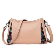 Luxo bolsa de couro macio retro bolsa feminina designer alta qualidade crossbody sacos para mulheres estilo chinês ombro sacos do mensageiro(China)