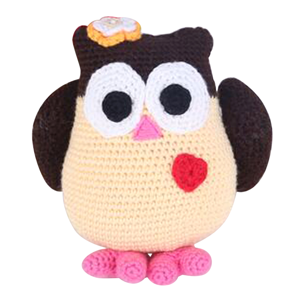 Owl Doll Crochet Kit Amigurumi DIY Craft Project with Materials and Instruction