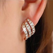 2019 Baru Wanita Emas Anting-Anting Logam Sederhana Pesona Hollow Geometris Liontin Drop Earrings Pendientes Mujer Moda(China)
