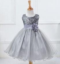 BH-L067 # Abito di Sfera Lavanda blu scuro Piccola Damigella D'onore Costume di Paillettes Ragazze di Fiore abiti Per Bambini commercio all'ingrosso del Vestito(China)