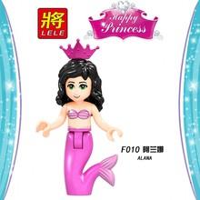 Сказочные куклы Legoing Friends принцесса Бела Ариэль Русалочка игрушки Золушка белый снег девочки Playmobil блоки Legoingly фигурки(China)