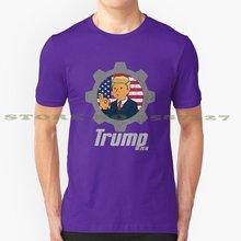 Trump 2076 design legal camiseta na moda t trump antifa democrata republicano orwell 1984 desenhos animados sexy engraçado bobo(China)