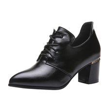 2019 รองเท้าหนังสั้นผู้หญิงลูกไม้ Elegant ข้อเท้ารอง(China)