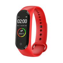 M3 mais inteligente pulseira de freqüência cardíaca pressão arterial saúde à prova dmágua relógio inteligente m4 bluetooth feminino pulseira de fitness rastreador(China)