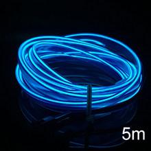 3/5m EL Soğuk Hattı Esnek Araba Işıkları 12V Araba LED Neon EL Tel oto lambaları Araba soğuk ışık şeridi Iç Dekorasyon Lambaları(China)