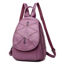 Feamle рюкзак для девочек-подростков из натуральной коровьей кожи большой рюкзак на молнии Рюкзак Школьная Сумка Mochila Feminina Sac A Dos Femme(China)