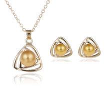 Luxus Braut Partei Schmuck Sets Hinweis Perle Halskette Set Link Kette Tropfen Ohrringe Silber Überzogene Schmuck-Set Für Frauen Hochzeit(China)