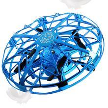 Mini hélicoptère volant UFO RC Drone main détection avion modèle électronique quadrirotor flayaball jouets petit drohne pour les enfants(China)