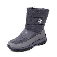 Fujin Frauen Winter Stiefel Wasserdicht Lange Plüsch Warme Schuhe Stiefel für Weibliche Plattform Zipper Slip auf Booties Schnee Stiefel Frauen(China)