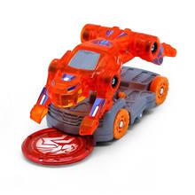 Mais novo explosão velocidade screechers selvagem deformação carro figuras de ação vários chip captura wafer 360 ° flip transformação carros brinquedos(China)